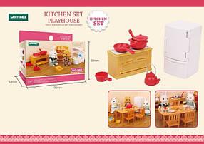 Кухня для флоксовых животных B02 с посудой (аналог Sylvanian Families)