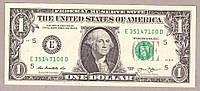 Банкнота США 1 доллар  2013 г. Пресс