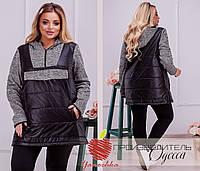 Женская удлиненная куртка с капюшоном большие размеры