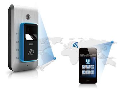 Управление считывателем отпечатков пальцев с помощью смартфона