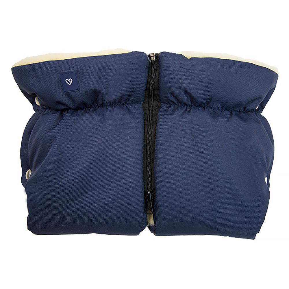 Муфта Womar (Zaffiro) MUF two piece navy blue (темно-синий) (наполнителем из натуральной шерсти)