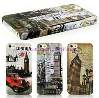 Чехол TPU/силикон London ретро Лондон для Iphone 5, 5S