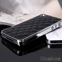 Чехол бизнес-класса кожзам + хром  для Iphone 5 и Iphone 5S/5SE