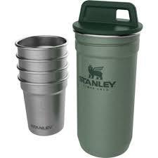 Набор STANLEY Adventure зеленая туба + 4 рюмки (металик) ST-10-01705-039