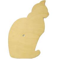 Основа для часов Кошка 30 см фанера