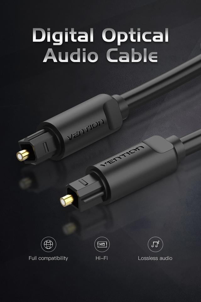 кабель мультимедийный аудио оптический Vention BAE Toslink S/PDIF 1м 2м 3м 5м