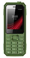 Телефон защищенный кнопочный на 2 сим карты ERGO F248 Defender зеленый