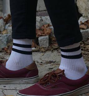 Шкарпетки Neseli Athletic 2 Смужки білі 2234