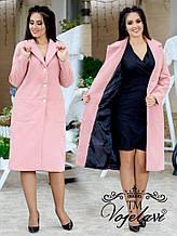 Женское пальто кашемир на подкладке, р.48-54 Батал  (ЦВЕТА И РАЗМЕРЫ В ОПИСАНИИ)