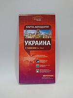 акКРТ К Авто Украина (1:1 000 000) Україна РУС Карта автомобильных дорог