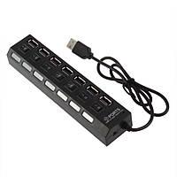 Хаб USB 7 порта + switch