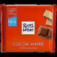 """Шоколад молочный с начинкой вафли и какао """"Ritter Sport"""" 100г"""