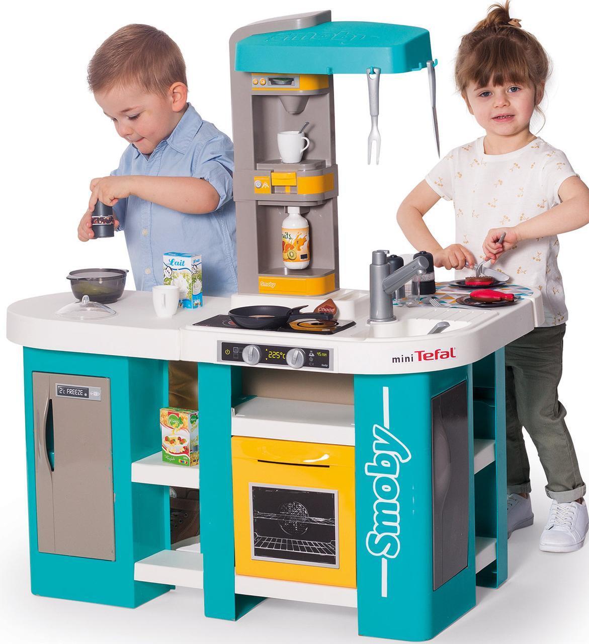 Интерактивная кухня Студио Фрэнч серии Тефаль (голубая) Smoby 311045