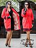 Женское Кашемир + подкладка + кружево макраме 48-54 рр. Батал цвета разные