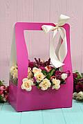 Коробка для цветов Hand bag 12*23,5*35см 10шт/уп - Фуксия