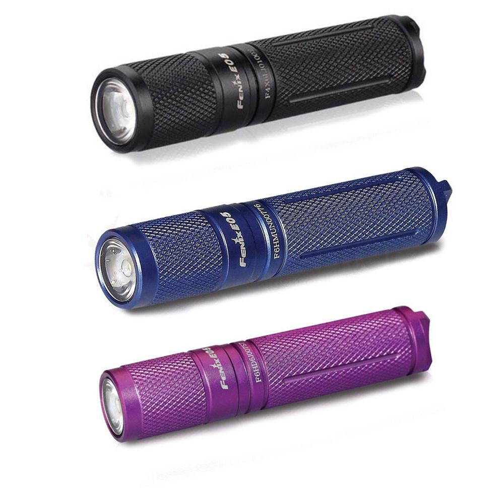 Ліхтар ручний Fenix E05 XP-E2 R3 фіолет оновлений