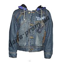 20150-1. Джинсовая куртка на подкладке из флиса (3-6 лет) оптом недорого.Одесса.