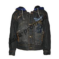 20150-2. Джинсовая куртка на подкладке из флиса (3-6 лет) оптом недорого.Одесса.