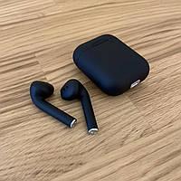 Беспроводные наушники i12 Bluetooth 5.0 с кейсом черные