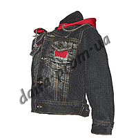 20151-1. Джинсовая куртка на подкладке из флиса (3-6 лет) оптом недорого.Одесса.