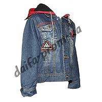20151-2. Джинсовая куртка на подкладке из флиса (3-6 лет) оптом недорого.Одесса.