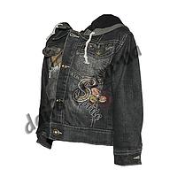20152-1. Джинсовая куртка на подкладке из флиса (3-6 лет) оптом недорого.Одесса.