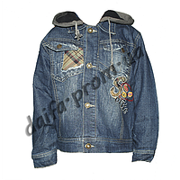 20152-2. Джинсовая куртка на подкладке из флиса (3-6 лет) оптом недорого.Одесса.