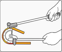 """Трубогин 2-ручний для алюм. і мідних труб ?= 15/32"""" (12 мм) під кут 0- 180° [20], YT-21842 YATO, фото 2"""
