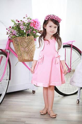 Красивое нежное детское платье с бантиками для девочки в комплекте с болеро, фото 2