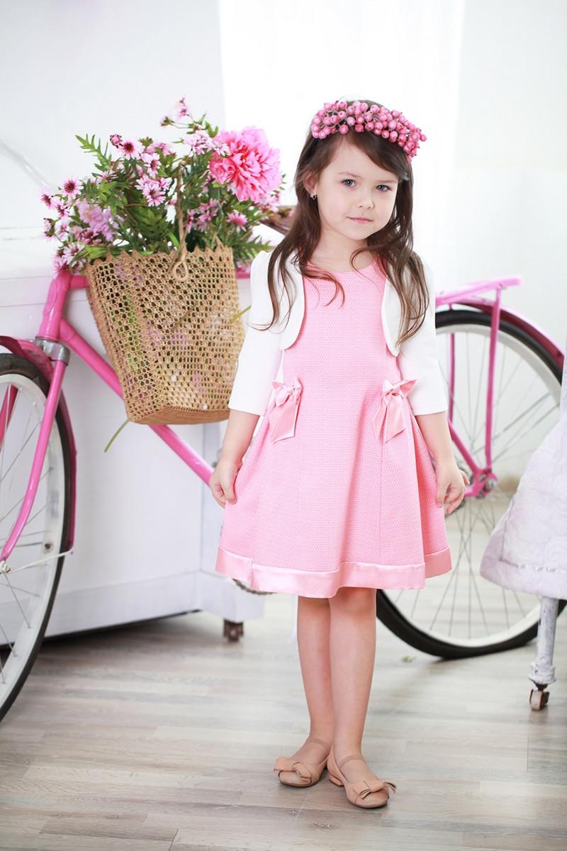 1b5a5c73c7c Красивое нежное детское платье с бантиками для девочки в комплекте с болеро  - Exclusive в Хмельницком