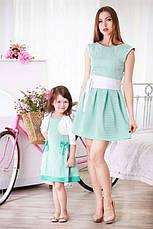 Красивое нежное детское платье с бантиками для девочки в комплекте с болеро, фото 3