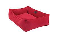Лежак з вельвету для собак Harley and Cho Dreamer Red Velvet 3100106, 90x60 см