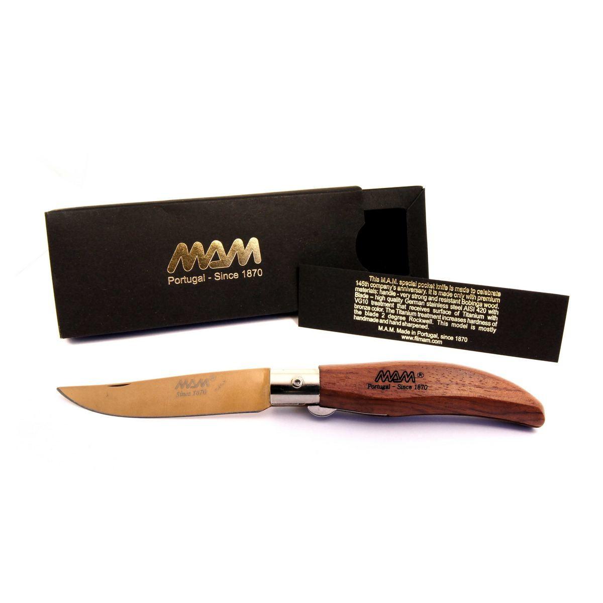 Ніж складний MAM Iberica's кишеньковий покриття клинка Bronze Titanium №2017