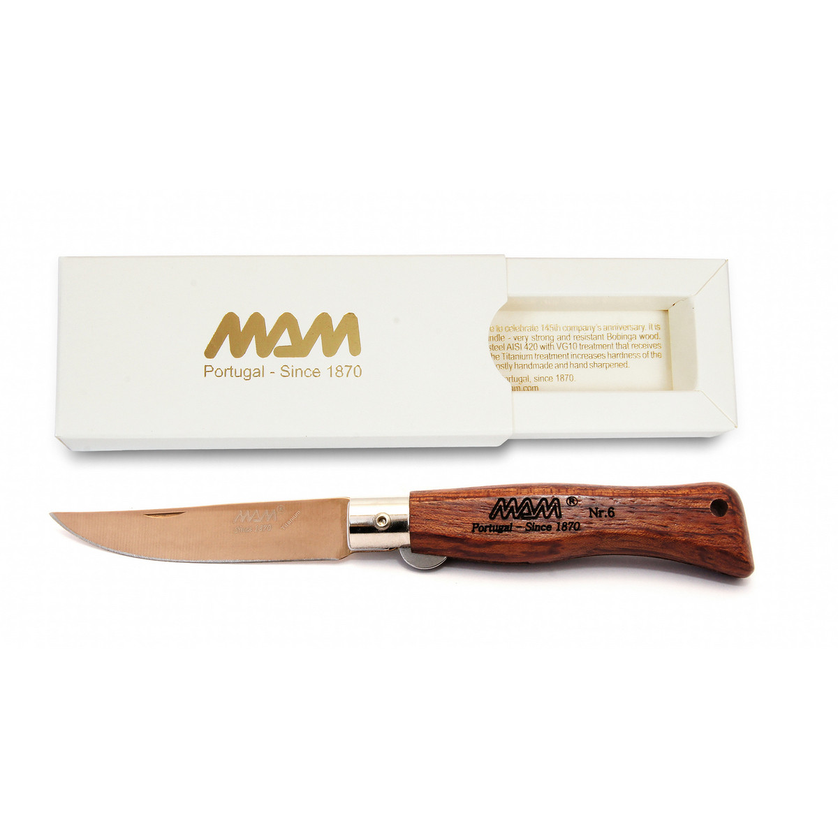 Ніж складний MAM Douro Pocket knife покриття клинка Bronze Titanium №5000