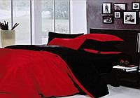 Черно-красное постельное постельное белье. Евро комплект