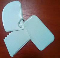 Шпатель {Лопатка} пластиковый для мастики (набор 3 шт)