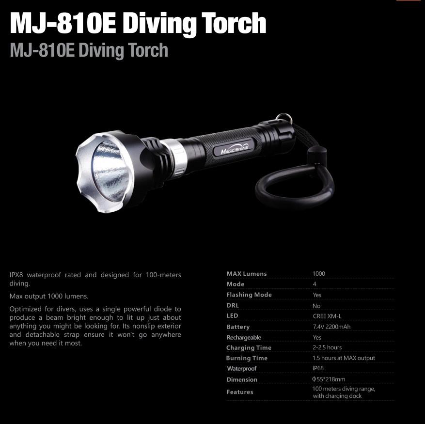 Ліхтар дайвінговий Magicshine MJ-810E
