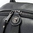 Рюкзак Кожаный Женский Флотар Vintage 14865 Черный, Черный, фото 8