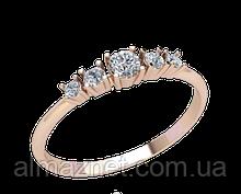 Золотое кольцо без накладок Калифорнийский гребешок