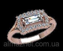 Золотое кольцо без накладок Бонмарито