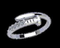 Золотое кольцо без накладок Гвоздик
