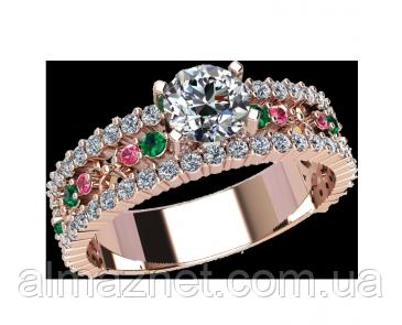 Золотое кольцо без накладок Ауди