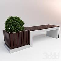 Современные деревянные скамейки
