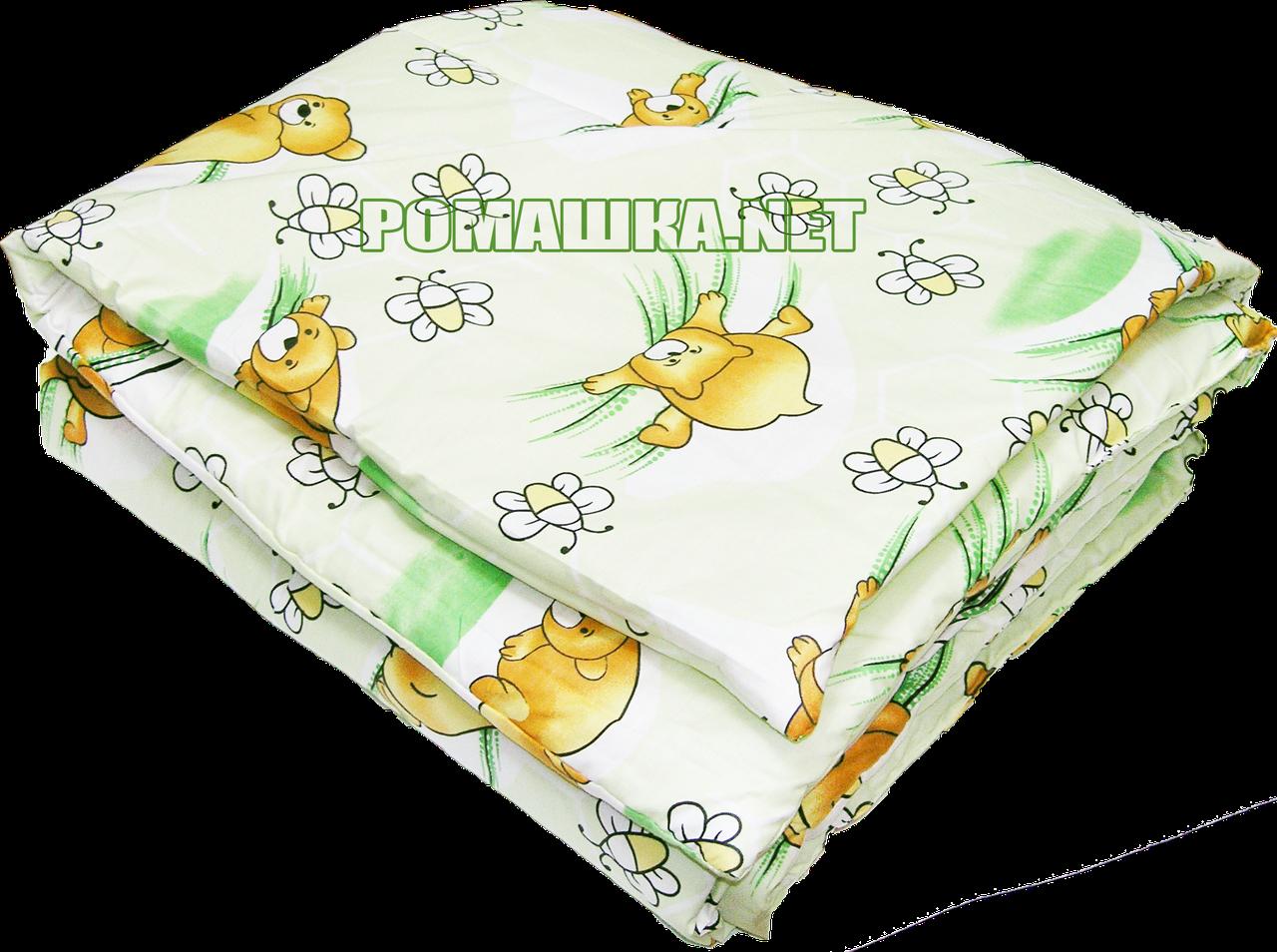 Одеяло детское на силиконе в детскую кроватку 120х60 см, верх хлопок, 140х100 см, ТМ Ромашка