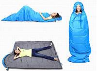 Спальный мешок туристический одеяло с капюшоном,спальник King Camp OASIS 300