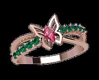 Золотое кольцо без накладок Бабочка Альмерии