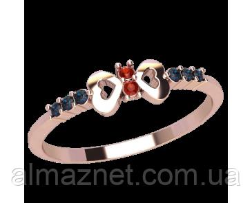 Золотое кольцо без накладок Гребень Венеры