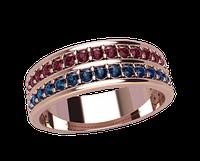 Золотое кольцо 585 пробы Персея