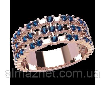 Золотое кольцо без накладок Афины