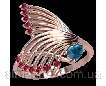 Золотое кольцо без накладок Крылья Афродиты